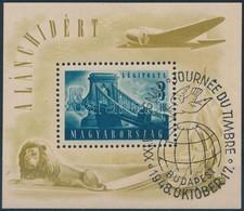 O 1948 Lánchíd (II.) Blokk Kiállítási Bélyegz?vel, Szép, Ritka Darab (30.000) - Stamps