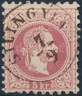 O 1867 5kr 'SILINGY(IA)' (Gudlin 500 Pont) - Stamps