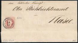 1868 5kr Levélen Kék ,,SLATINA In SLAVONIEN' (Gudlin 600 Pont) - Stamps