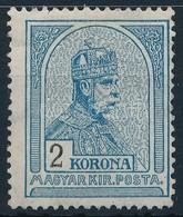 1913 Turul 2K Fekv? Vízjellel, újragumizott / Regummed (*26.000) - Stamps