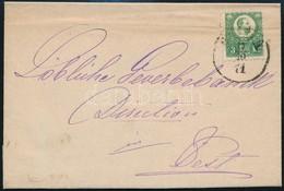 1871 Réznyomat 5kr Helyi Levélen ,,BUDA' (20.000) (enyhe Hajtás) - Stamps