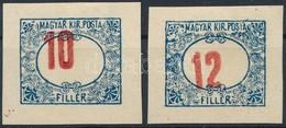 (*) 1915 2 Db Portó Próbanyomat - Stamps
