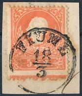 1858 5kr I. Típus Alul Andráskereszt Végz?déssel, Látványos Darab! - Stamps