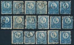 O 1871 Réznyomat 17 X 10kr, Benne Sok Színváltozat (~ 25.000) - Stamps