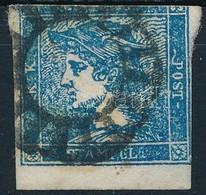 O 1851 Hírlapbélyeg Felül Bevágva, Pesti Némabélyegzéssel (Gudlin R!) - Stamps