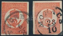 O 1871 K?nyomású Hírlapbélyeg Tégla- és Sötétvörös, Szép Bélyegzések (24.000) - Stamps