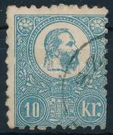 O 1871 K?nyomat Lemezhibás 10kr (hiányos Bal Oldali Keret) (26.500+++) - Stamps