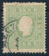 O 1853 3kr Zöld ,,MECZ(ENZÉF)' (25.000) - Stamps