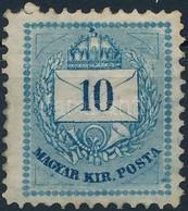 1874 10kr 'B' (*18.000) (javított Gumi / Repaired Gum) - Stamps
