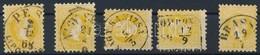 O 1867 5x2kr Színárnyalatok, Szép Bélyegzések - Stamps
