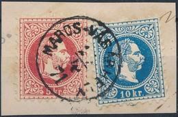 1867 5kr + 10kr ,,MAROS-VÁSÁRHELY' - Stamps