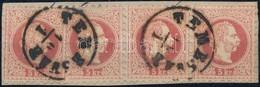 1867 5kr Bélyeg + Hármascsík Kivágáson ,,TEMESVÁR' - Stamps