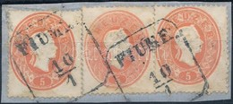 1861 3 X 5kr ,,FIUME' - Stamps