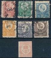 * O 1871 Elfogazott Réznyomat Sor + Hírlapbélyeg - Stamps