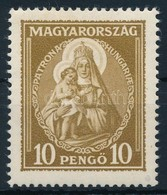 * 1932 Nagy Madonna 10P Alig Látható Falcnyom - Stamps