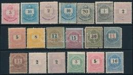 (*) * 1874-1898 19 Vegyes Min?ség? Krajcáros Bélyeg - Stamps