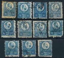 O 1871 11 Db Vegyes Min?ség? Réznyomat 10kr Bélyeg (~16.000) (mixed Quality) - Stamps