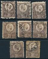 O 1871 8 Db Vegyes Min?ség? Réznyomat 15kr Bélyeg (~15.000) (mixed Quality) - Stamps