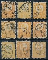 O 1871 8 Db Vegyes Min?ség? Réznyomat 2kr Bélyeg (~19.000) + 1 Díjjegyes Kifogazás (mixed Quality) - Stamps