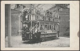 Illuminated Car, King's Visit, Sheffield, Yorkshire, 1905 - Mellard Postcard - Sheffield