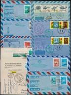 11 Db Boríték és Képeslap Autóposta, Helikopter- és Hajóposta, Vitorlázó- és Ballonpostával, MALÉV Emlékjáratok - Stamps