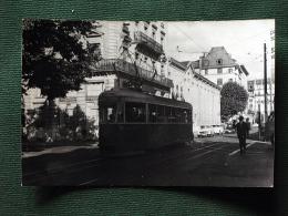 Photo De Tramway De GENEVE Rue Du Rhone Col Schnabel - Strassenbahnen