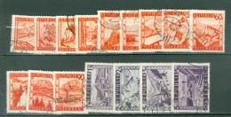 Autriche  Yvert  697/711  Ou   Michel  838/853   Ob  TB - 1945-.... 2nd Republic