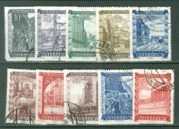 Autriche  Yvert  712/721  Ou   Michel  858/867   Ob  B/TB - 1945-.... 2nd Republic