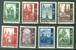 Autriche  Yvert  755/762  Ou   Michel  885/892   Ob  B/TB - 1945-.... 2nd Republic