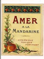 Etiquette Amer à La Mandarine - Imprimeur Douin & Jouneau - Vers 1920 - - Etiquettes