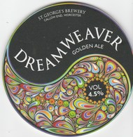 ST GEORGE'S BREWERY (CALLOW END, ENGLAND) - DREAMWEAVER GOLDEN ALE - PUMP CLIP FRONT - Signs