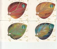 "4 X Thailand Starbucks Card  ""Mini Leaves Set "" - 2015-4112 - Gift Cards"