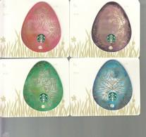 "4 X Thailand Starbucks Card  ""Eggs "" - 2015-4118 - Gift Cards"