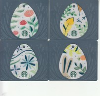 "4 X Thailand Starbucks Card  ""Eggs "" - 2017-6148 - Gift Cards"