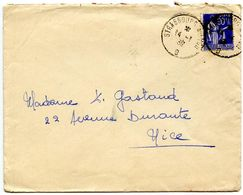 France 1939 RPO Cover Strasbourg A Lyon To Nice - Postmark Collection (Covers)