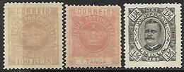 Portuguese India  1877-95  Sc#62, 165, 181 Better MH   2016 Scott Value $19.80 - Inde Portugaise