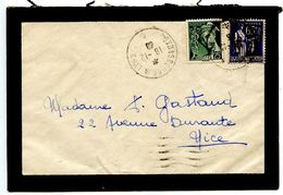 France 1939 RPO / Mourning Cover Strasbourg A Lyon To Nice - Postmark Collection (Covers)
