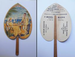 Éventail Fan Waaier F.Michel Marra Rhum Augustain Quinas L'Isle Vaucluse 27 X 15 Cm - Alcools