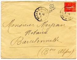 France 1927 RPO Cover Melun A Montereau  To Barcelonnette - Postmark Collection (Covers)