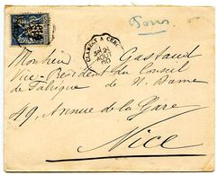 France 1900 RPO Cover Clamecy A Cercy To Nice - Postmark Collection (Covers)