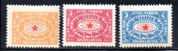 YUG61F - YUGOSLAVIA 1946,  Unificato N. 442/444  Nuovi  * - Nuovi