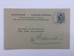 GENAPPE - BOUSVAL» COURRIER FILATURE &RETORDERIE Via BOURGMESTRE «1930 /1935 . - Genappe