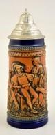 Ón Fedeles Gerz Korsó, Mázas Kerámia, Hibátlan, Jelzett,  M:23 Cm - Ceramics & Pottery