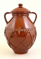 Fazekas Lekváros Bödön, Mázas Kerámia, Jelzés Nélkül, M:37 Cm - Ceramics & Pottery