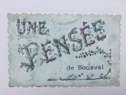 GENAPPE «UNE PENSÉE DE BOUSVAL  «décorée De Strasses Paillettes Colorées ,relief  ,effet Nacré (1907 )Édit V.P.F . - Genappe