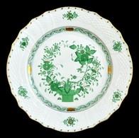 Herendi Indiai Kosár Mintás Tál, Porcelán, Kézzel Festett, Jelzett, Hibátlan, D:27 Cm - Ceramics & Pottery