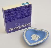Wedgwood Biszkvit Szív Alakú Tálka, Jelzett, Hibátlan, Eredeti Tokban, 11×10 Cm - Ceramics & Pottery