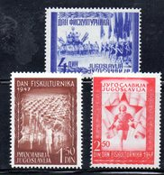 YUG63A - YUGOSLAVIA 1947,  Unificato N. 463/465  Nuovi  * - 1945-1992 Repubblica Socialista Federale Di Jugoslavia