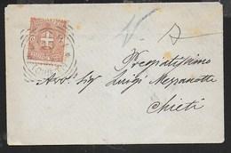 STORIA POSTALE REGNO - ANNULLO TONDO RIQUADRATO VACRI/(CHIETI) (p.5) 23.12.1897 SU BUSTINA TARIFFA STAMPE - Poststempel