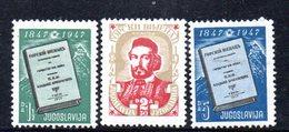 YUG63B - YUGOSLAVIA 1947,  Unificato N. 460/462  Nuovi  * - 1945-1992 Repubblica Socialista Federale Di Jugoslavia